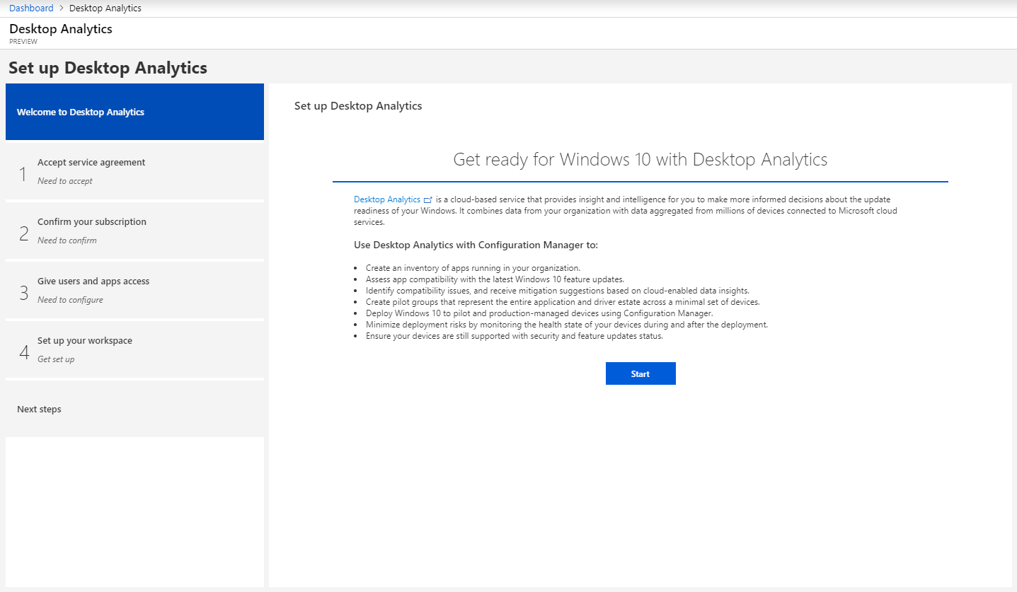 News about Windows Analytics: Upgrade Readiness / Desktop Analytics