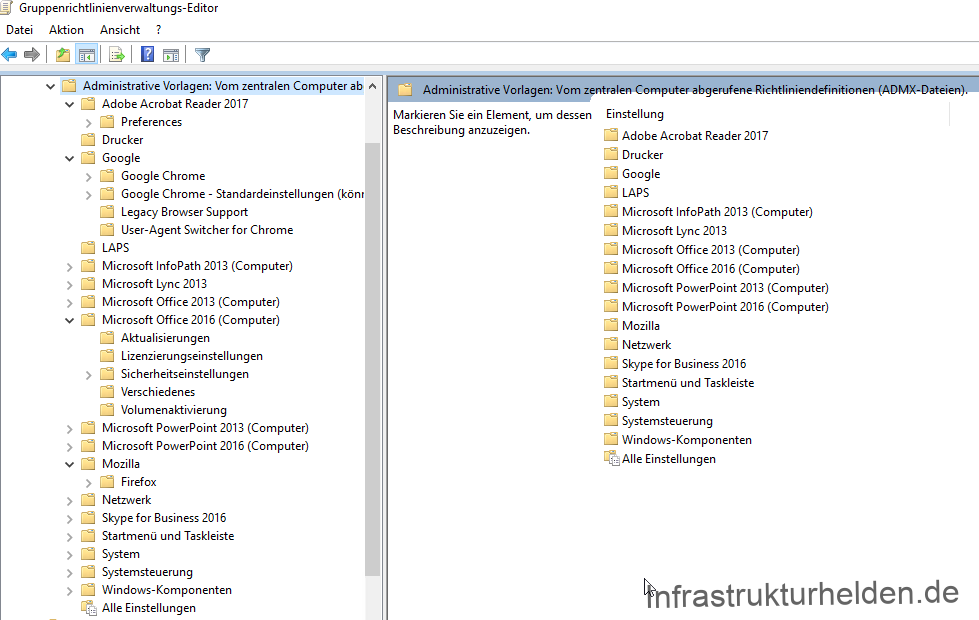 List of different Group Policy Templates (Updated)