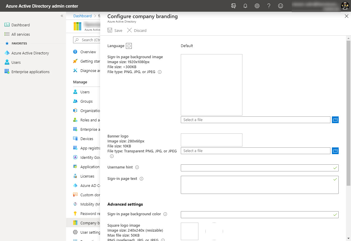 azure active directory admin center dashboard greater c 1 Setting up Office 365 - Part 2 19